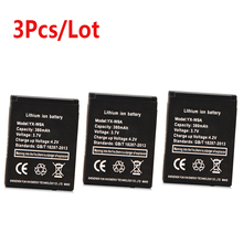 3Pcs/Lot 380mAh Battery For DZ09 smart watch battery Support Rechargeable Polymer Li-ion Dropshipping Wholesale