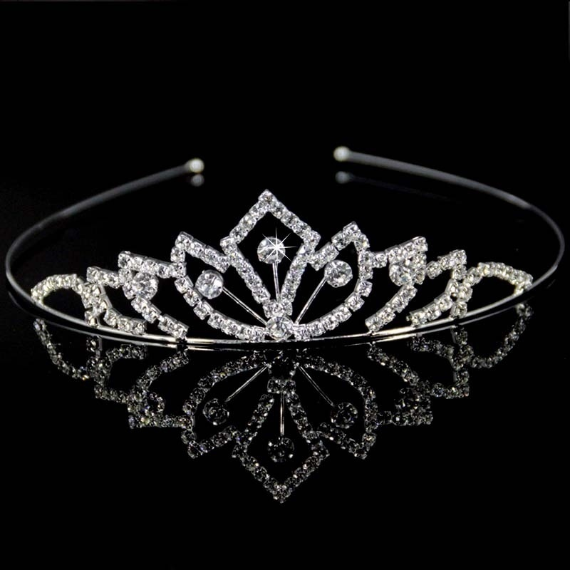 StoneFans Girls Kids Tiara And Crown Crystal Bridal Headband Hair Clip For Granddaughter Jewelry Gifts Hair Accessories Hairwear