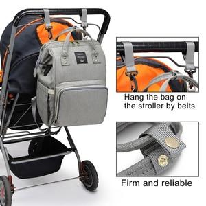Image 3 - Moda mumya analık bez torba büyük kapasiteli bebek çantası seyahat sırt çantası hemşirelik çantası bebek bakımı için USB arayüzü ile