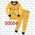 1-8Years New Criança Pijamas Roupas Pokemon Pikachu Pijamas Pijamas Suit Crianças Amarelas Pijama Definido para Meninos Das Meninas Do Bebê