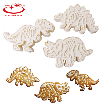 6pc/lots Dinosaur Cookies Cutters Biscuit Mould Set Tools Kitchenware Bakeware Decorative Tools Kitchen Accessories Dropshipping