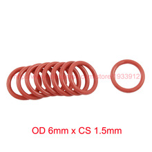 OD 6mm x CS 1.5mm VMQ PVMQ SILICONE Rubber O ring O-ring Oring Seal Gasket все цены