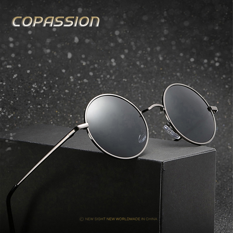 COPASSION Brand Fashion Unisex Sun Glasses Polarized Coating Mirror Driving Sunglasses Round sunglass Male Eyewear For Men Women ...