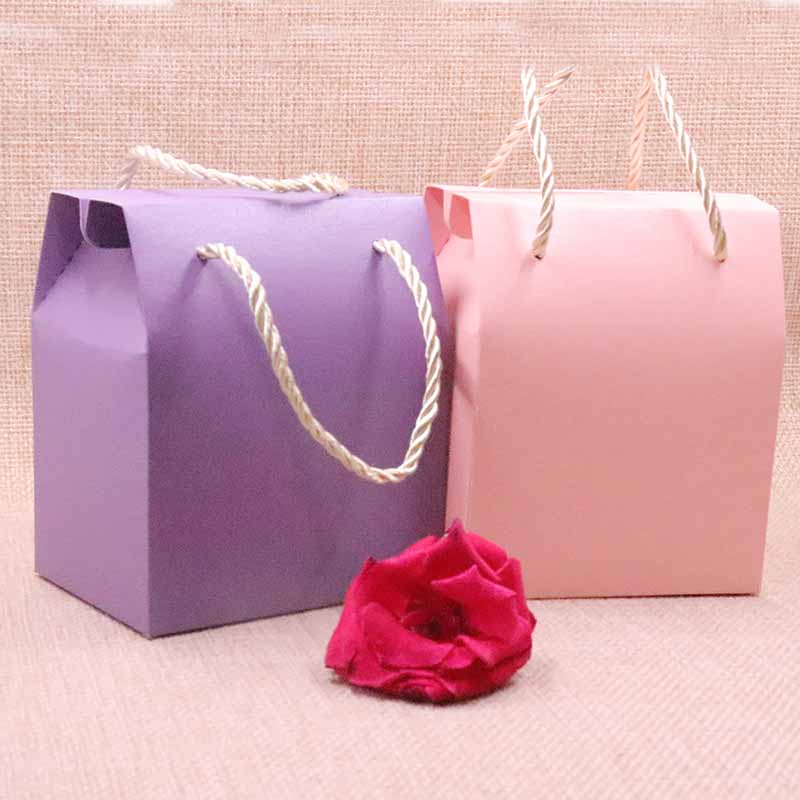 50pcs 2018 New DIY Candy Box Gift BOX 6Colours Wedding Favourate Box For Card Cookies 8.9x10.5x6.7cm Wedding Cake Box