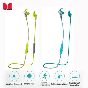 MONSTER iSport Intensity In-Ear Wireless Bluetooth Running Sports Headphones Sweatproof & Durable Earphone with Micro USB Charge