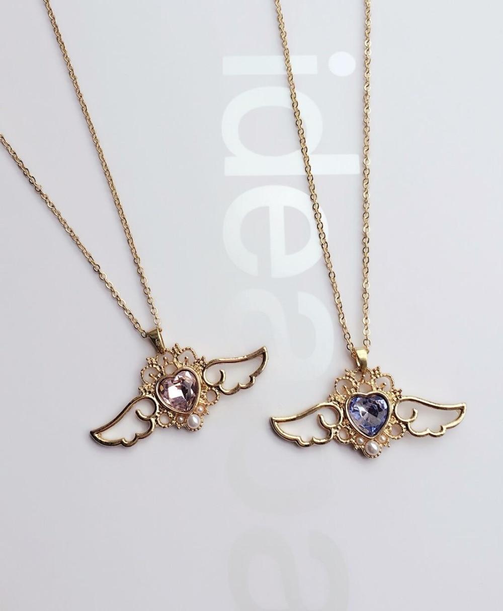 Kawaii Sailor Moon Crystal Heart & Wings Necklace 1