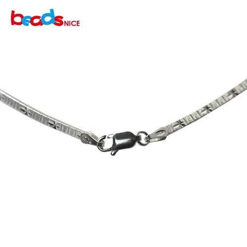 Beadsnice gros élégant 925 collier en argent pour les femmes 16 pouces collier ras du cou bijoux en argent Sterling colliers italiens