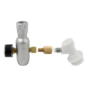 "Image 2 - Premium Gereglementeerde CO2 Charger Kit, 0 60 PSI met bal lock Gas Disconnect, mini CO2 Regulator, 3/8 ""draad co2 draad Hombrewing"