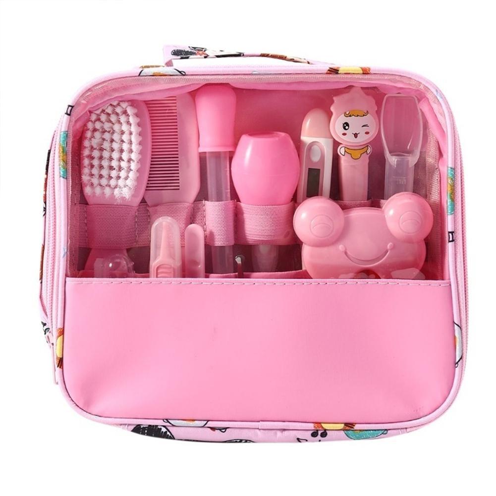 13 pçs conjunto de cuidados de saúde do bebê crianças aliciamento kit multifunções infantil prego cabelo cuidados de saúde termômetro escova cuidados com o bebê ferramenta