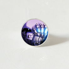 Undertale Game Gamer Gaming sliver color rings Ghost Video Glass Cabochon ring Art Gifts