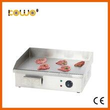 Ce нержавеющая сталь 3kw Электрический гриль teppanyaki печь кухонной плитой блин гриль плоской пластины комбайны (550×420 x 220)