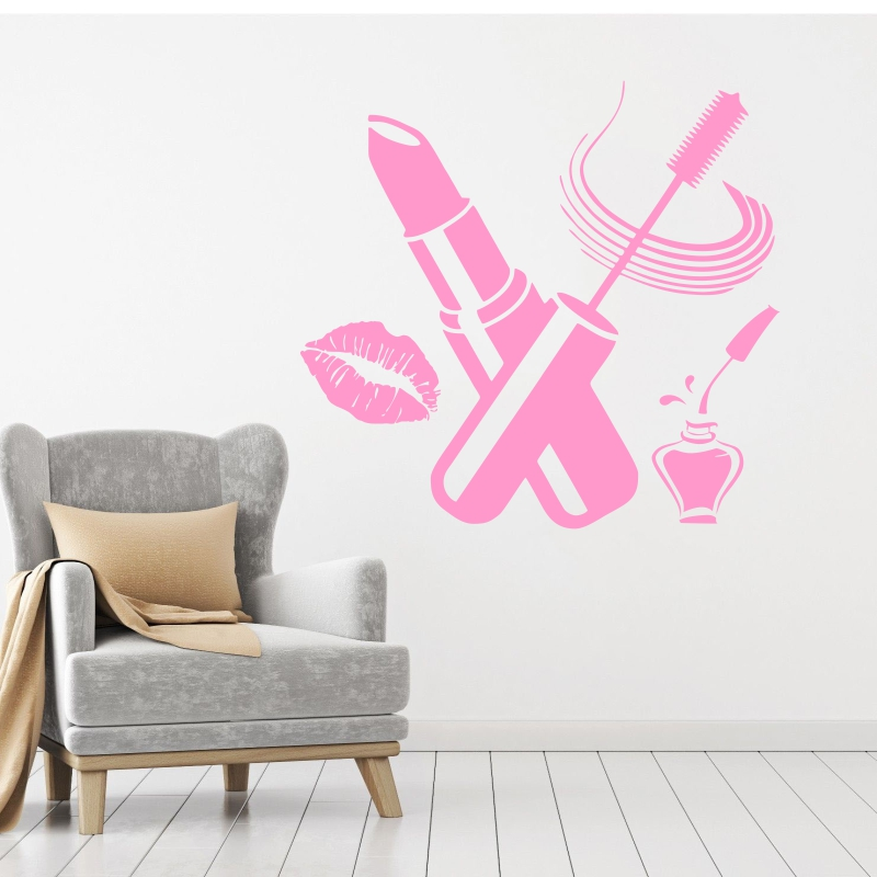 DCTAL sticker nail art beauty lip beauty salon sticker store business wall art stickers decals
