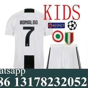 Free shipping 2018 2019 kids kit football jersey Juventusing child best  quality camisetas de futbol Soccer jersey 9782c604e1ac7