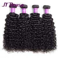 Jy Deusa Raw Indian Hair Kinky Curly Hair Bundles Indian Virgin Hair Curly Human Hair Bundles Can Buy With Closure Bulk Price