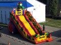 (China Guangzhou) corrediças infláveis, slides Castelo Dragão Azul slides CHA-115