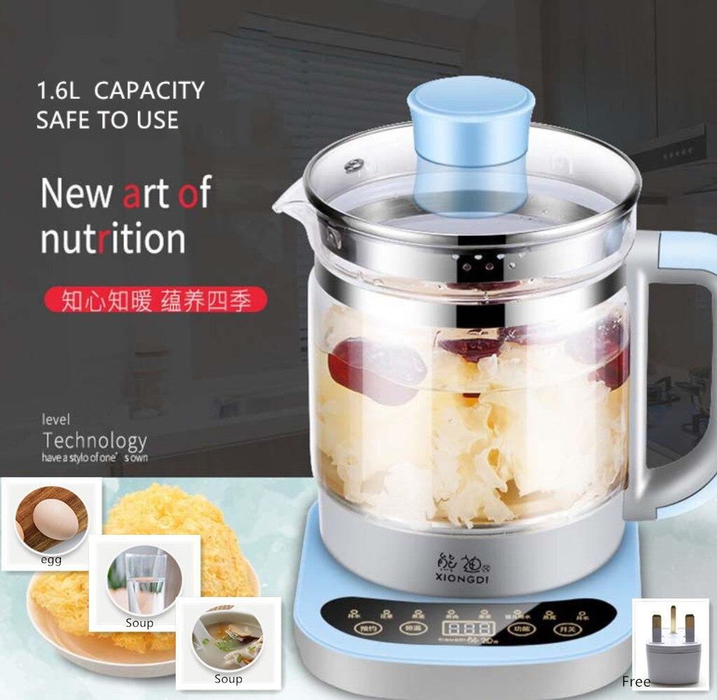 220V Health pot glass flower teapot multi function tea kettle electric tea kettle