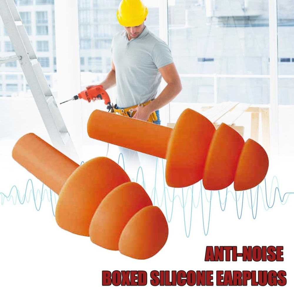 Soft Silicone Ear Plugs Sound Insulation Ear Protection Earplugs Anti-noise Plugs Foam Soft Noise Reduction With Storage Box