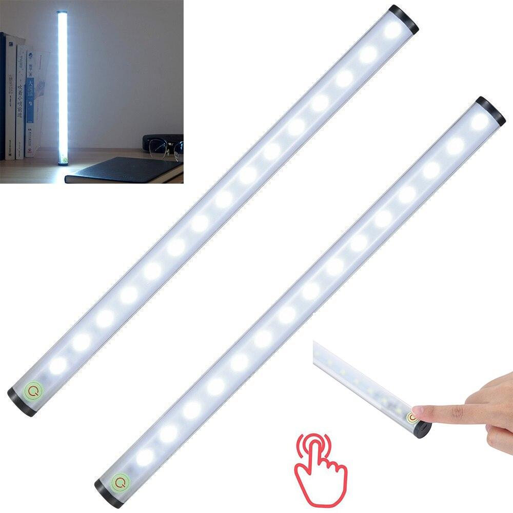 1 pcs USB Rechargeable 15LED Touch Sensor Night Light Bar Cabinet Lumière Cuisine Armoire Penderie Armoire Lumière Bande 4 Luminosité