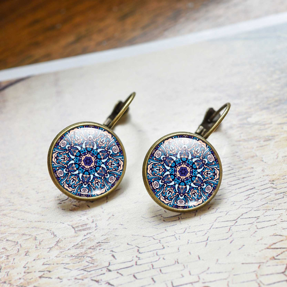 Fashion Women Jewelry Mandala Earrings Om Symbol Buddhism Vintage Henna Stud Online Ping India 2017 In From