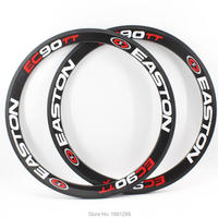 2pcs Newest EC90TT 700C 50mm Road Fixed Gear Track Bike 3K Full Carbon Bicycle Wheels Clincher
