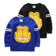 2016 antunm and winter hoodies children cartoon cat child fleece warm kids hoodies boys outerwear boys hoodie sweatshirt