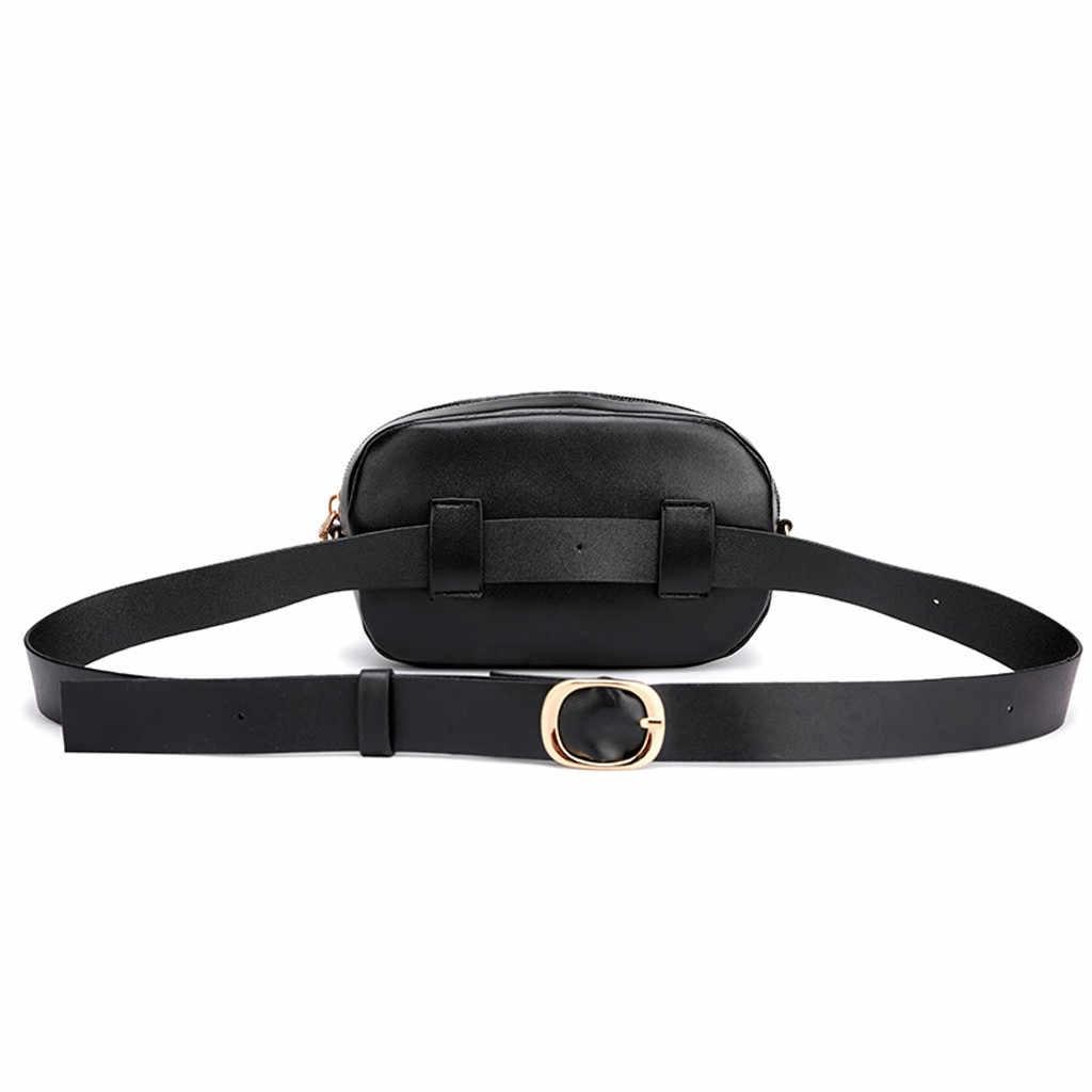 Bolsa de cinturón para mujer, riñonera de viaje al aire libre, Bolsa de mensajero con cremallera de leopardo, Bolsa de deporte en el pecho, Bolsa de Cintura pequeña sólida