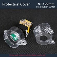 22mm Transparent Waterproof Protection Cover for Plastic Push Button Switch Rainproof Protective Cover Avoid Wrong Pressing