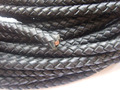 1 Yard 8mm Black/Brown Braided Real Leather Cord For necklace bracelet Jewelry Fittings