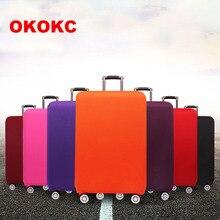 Okokc путешествия Сгущает эластичный Однотонная одежда Чемодан чемодан защитная крышка, относятся к 18-32 дюймов Чехол, Туристические товары