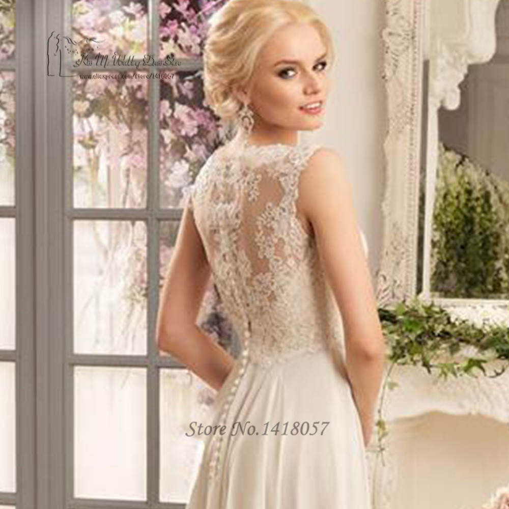 ivory cheap bohemian wedding dress lace made in china wedding gowns a line bridal dresses chiffon women robe de mariage in wedding dresses from weddings