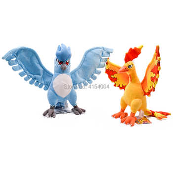 3 ชิ้น/ล็อตอะนิเมะสามพระเจ้านก Moltres Articuno Zapdos ตุ๊กตา Plush การ์ตูน Peluche ตุ๊กตาคริสต์มาสของขวัญเด็กของเล่นเด็ก
