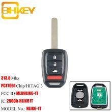 Bhkey 3 + 1 кнопка дистанционного ключа для honda mlbhlik6 1t