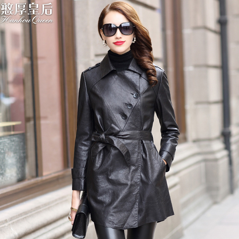 Genuine Leather Jacket Woman Spring 2019 Sheepskin Coat Long Trench Coats And Jackets Women Clothes 2019 Chaqueta Mujer 8007A MY