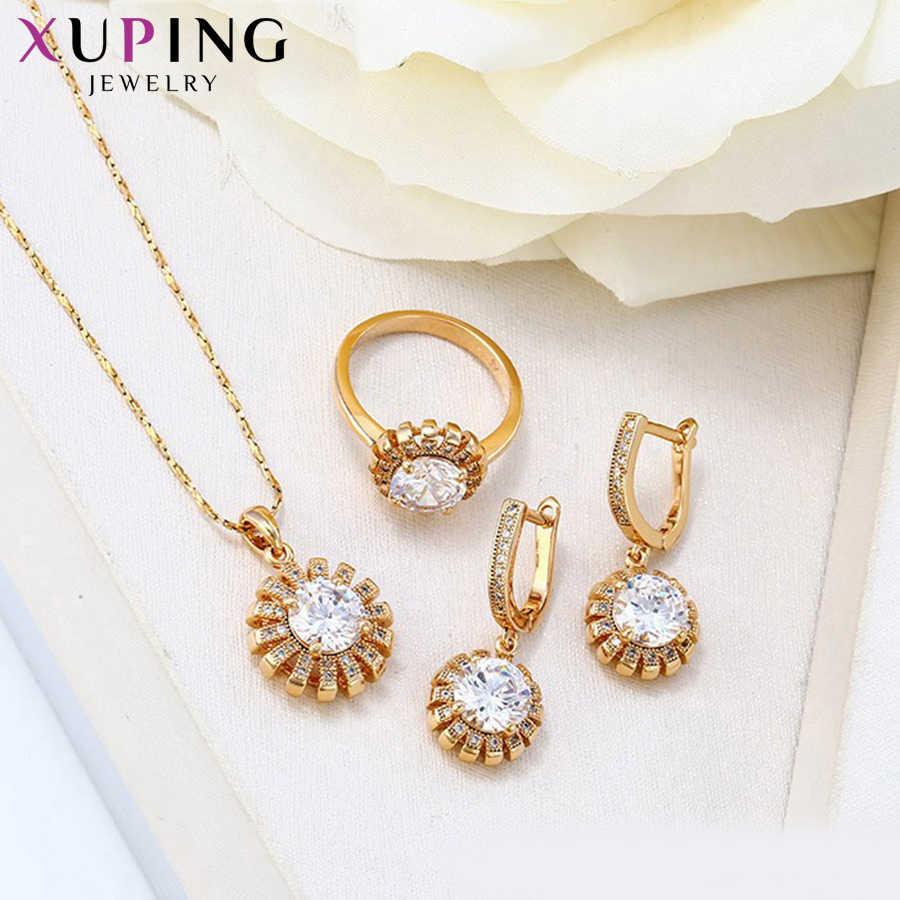 b3f4895f2 ... Xuping Fashion Sets 2017 New Arrival Luxury Style Jewelry Sets Gold  Color Plated Women Wedding Gift ...