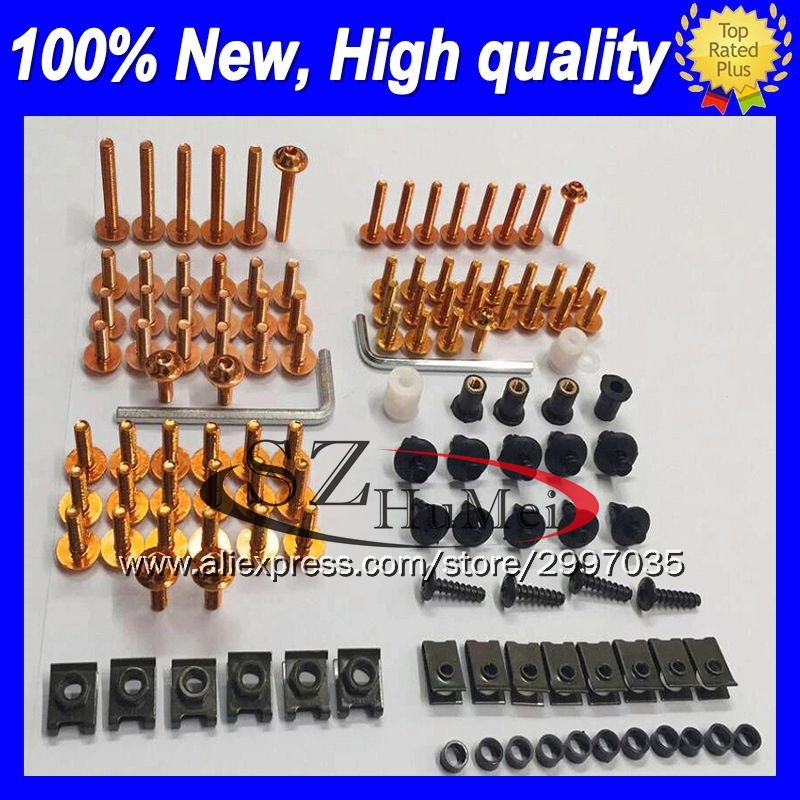 <font><b>Fairing</b></font> bolt full bolts kit For SUZUKI GSXR600 GSXR750 06 07 <font><b>GSXR</b></font> <font><b>600</b></font> 750 GSX R600 R750 <font><b>2006</b></font> 2007 Windscreen screw screws Nuts image