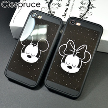 ФОТО clespruce mickey mouse minnie back cover soft silicon phone case for iphone x 8 7 6 6s plus cute cartoon mirror funda coque