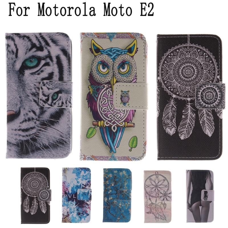 Phone Cover Case for funda coque Motorola Moto E2 E 2nd Gen E2 2015 XT1505 XT1524 XT1527 Phone Cover for Moto E2 Case + Stand