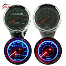 Universal Motorcycle Odometer +Tachometer Speedometer Tacho Gauge Speedo meter
