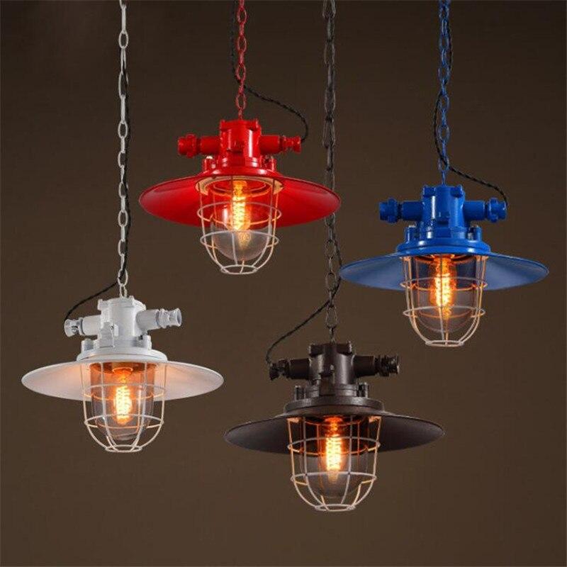 ФОТО Industrial Loft Creative Lighting Iron Retro Pendant Lamp  For Home Cafe Bar  Metal Material AC  E27 Edison Bulb Pendant Lights