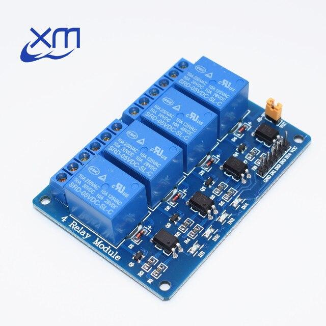 1 шт./лот 4 канальный релейный модуль 4 канала управления реле с оптопары. Реле Выход 4 способ релейный модуль