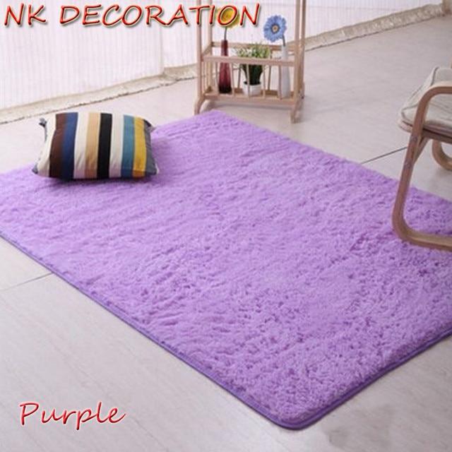 NK décoration 120 cm * 160 cm violet tapis chambre sol doux grands ...