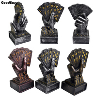 Metal Poker Card Tournament Winner Finger Trophy Casino Cup Poker Trophy Poker Game Souvenirs Winner Award Prize Home Decoration