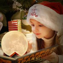 LED Night Light Rechargeable Moon Lamp Touch Control Lights 16 Colors Changing with Remote Night Lamps for Child Christmas Gift novelty night light moon lamp 3d rechargeable touch control lights 16 colors change with remote night lamps for child home decor