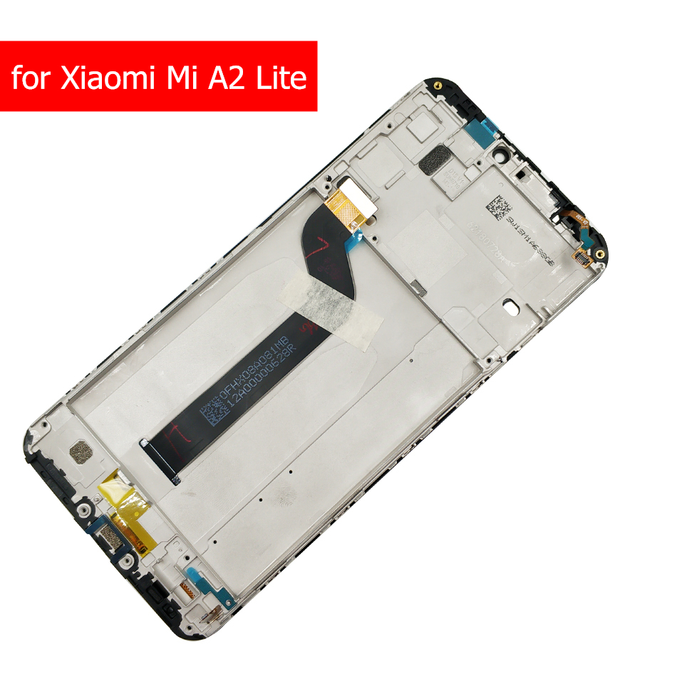 Image 2 - LCD Display for Xiaomi Mi A2 Global/ Mi A2 Lite LCD Display Touch Screen with Frame LCD Display Digitizer Touch Repair Parts-in Mobile Phone LCD Screens from Cellphones & Telecommunications on