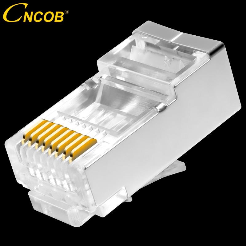 cncob rj45 Cat6 network connector 8P8C FTP Gigabit Ethernet Modular RJ-45 connection cry ...