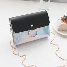 Laser Crossbody Bag For Women Chain Mini Shoulder Bag Circle Small Messenger Bag Womens Handbags and Purses evening clutch bags(China)