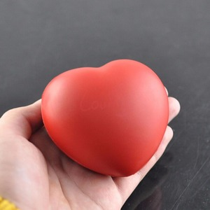 Image 3 - Small Heart Shaped Stress Relief Ball Exercise Stress Relief Squeeze Elastic Rubber Soft Foam Ball Ball Toys