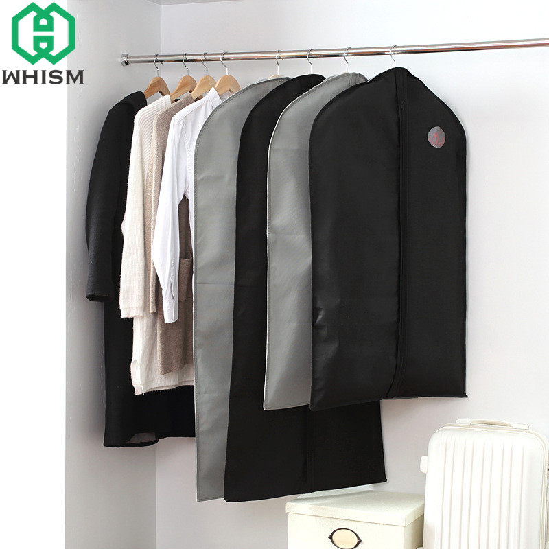 WHISM Portable Dress Suit Protective Cover Outer Coat Protector Folding  Clothing Covers Non Woven Dust Proof Garment Storage Bag In Clothing Covers  From ...
