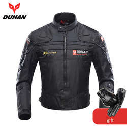 DUHAN Motorcycle Jackets Men Motocross Off-Road Racing Body Armor Protective Moto Jacket Motorbike Windproof Jaqueta Clothing