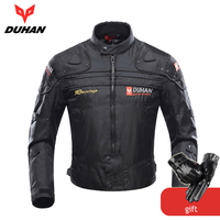 DUHAN Motorcycle Jackets Men Motocross Off Road Racing Body Armor Protective Moto Jacket Motorbike Windproof Jaqueta Clothing
